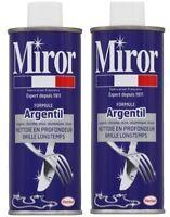 Lot 2 MIROR Formule argentil, nettoyant argent, chrome, inox, nickel, étain