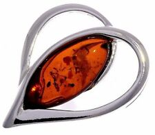 COGNAC BALTIC AMBER & 925 STERLING SILVER HEART PENDANT BY CERTIFIED SUPPLIERS