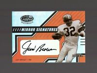 2003 Leaf Certified Materials Mirror Jim Brown AUTO #/100 NM-MT OR BETTER