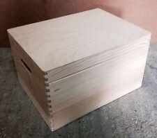 Pine Wood tronco di Archiviazione Petto BOX 40x30x23cm dd170 Treasure memoria BOMBONIERA