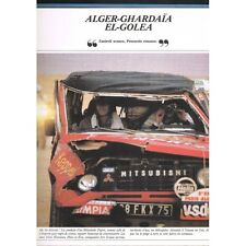Le RALLYE INACHEVÉ 1986 Thierry Sabine GOURMA-RHAROUS Nathaly ODENT Balavoine...