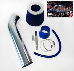 BLUE For 1992-1995 Honda Civic 1.5L 1.6L L4 Air Intake System Kit + Filter