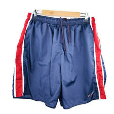 Vintage Nike Mens Swimsuit Shorts Size XL Dark Blue Red Long Lined
