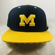 Michigan Wolverines Snapback Hat Cap Blue/yellow Adidas