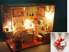 New Sweet Tale Dollhouse Miniature Diy Kit w Cover andToy doll house+Gift