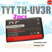 Two Pcs New Original TYT Battery for TH-UV3R dual band radio THUV3R