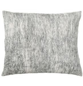 Donna Karan Luna Pleated Tie-Dye Decorative Pillow Silver