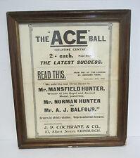 Vintage 1906 ACE Golf Ball Framed Ad