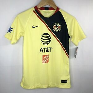 Nike Club America Home Replica Soccer Jersey 919234-707 US Youth Size Medium NEW