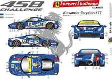 [FFSMC Productions] Decals 1/43 Ferrari F-458 Challenge 2012 Alexander Skryabin