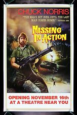 MISSING IN ACTION * CineMasterpieces CHUCK NORRIS VIETNAM ORIGINAL MOVIE POSTER
