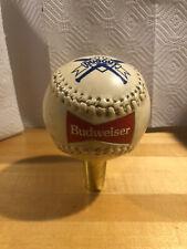 """Budweiser Baseball Ball Softball Dugout 5"""" Beer Keg Tap Handle"""