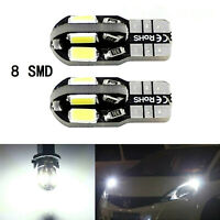 T10 Car Bulbs LED Error Free Anbus 8 SMD Xenon White W5W 501 Side Light Bulb 4PC