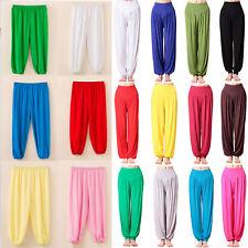 Womens Kids Boy Girl Harem Trousers Ali Baba Baggy Loose Long Pants Leggings