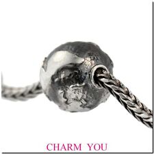 AUTHENTIC  TROLLBEADS 11520 Big Earth Silver Bead