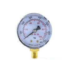 Low Pressure Gauge For Oxygen Regulator 0 100 Psi 2 Inches 18 Npt Thread