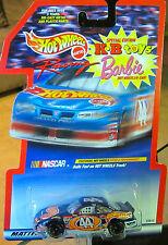 hot wheels carreras 1998 NASCAR KYLE PETTY #44 PONTIAC con / Barbie TAMPO