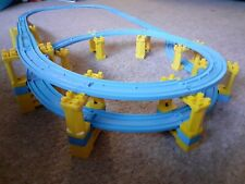 Tomy Trackmaster Thomas & friends blue track trainset. 2 tier spiral track