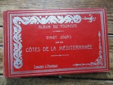 RARE - VINGT JOURS SUR LES COTES DE LA MEDITERRANEE MARSEILLE ITALIE 1895