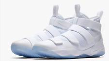 lebron james shoes 13 white. nike lebron james soldier xi 11 all triple white 897644-103 mens size 8- shoes 13