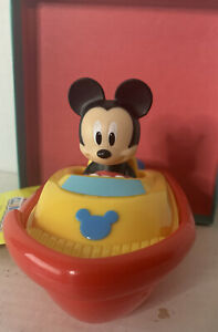 """Disney Junior Mickey Mouse Clubhouse Boat Bath Time Red & Yellow 5"""" New With Tag"""