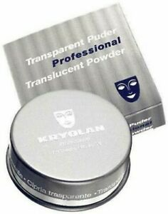 Kryolan Professional Theatrical Translucent Setting Powder White 2 oz