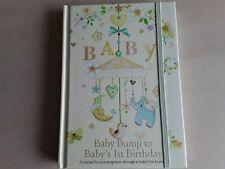 Baby Bump To Baby's 1st Birthday Journal Book Album Pregnancy Keepsake Memories