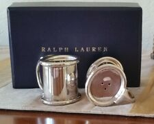 RALPH LAUREN WENTWORTH SALT&PEPPER SET SILVER PLATTED BRASS NWT