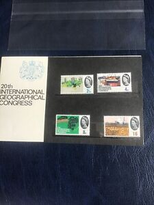 GB 1964 - 20th INTERNATIONAL GEOGRAPHICAL CONGRESS PRESENTATION PACK - CAT £100