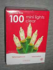 Holiday Time 100 Mini clear lights indoors outdoors Length 21.5 feet New