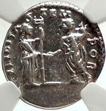 GETA w Felicitas Authentic Ancient Silver 198AD Laodicea Roman Coin NGC i68456