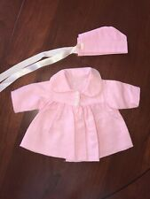 Tiny Tears Pink Coat And Bonnet, Very Good Condition!