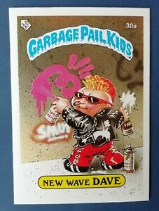 New Wave Dave 30a UK Garbage Pail Kids Series 1(1985)Topps~NMT/MINT~Pack Fresh