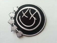 HEAVY METAL PUNK ROCK MUSIC SEW / IRON ON PATCH:- BLINK 182 (a) SMILEY FACE