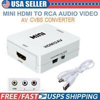 HDMI to AV Converter Composite RCA CVBS 1080P Adapter Audio Video HDTV DVD