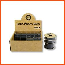 36 X Satin Ribbon Rolls Black Gift Scrapbook Sewing Craft Tie Hair Bow Head Band