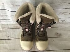 KEEN Snow Rover Women's Insulated Winter Hiking Boots Brown Pink Size 5