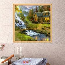 DIY 5D Bridge Diamonds River Embroidery Painting Cross Stitch Kit Home Decor