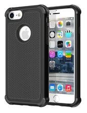 Shockproof Hard Silicone Case Cover Hybrid Heavy Duty for Apple iPhone 7 4s 5 6 iPhone 7 Black
