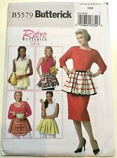 Butterick 5579. Misses' 1955 Style Retro Aprons. One Size. FF. OOP