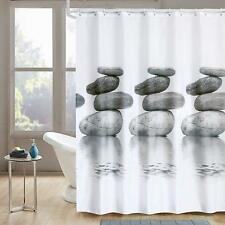 """Shower Curtain 72""""x72"""" Anti-bacterial  Mildew Resistant Liner with Rolling Ring"""