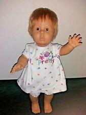 """Berjusa Anatomically Correct Toddler Girl Doll 19"""" Blonde Hair Blue Eyes"""