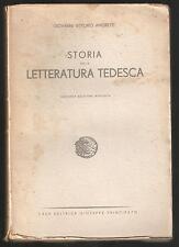 G.V. AMORETTI - STORIA DELLA LETTERATURA TEDESCA - PRINCIPATO 1942