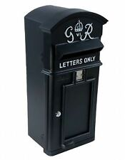 Black Wall Mounted Curved Top Slim G.R Royal Mail Style Post Box Letter
