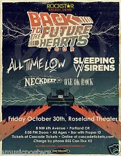 ALL TIME LOW / SLEEPING WITH SIRENS 2015 PORTLAND CONCERT TOUR POSTER