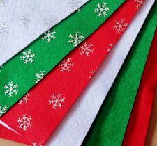 Craft Felt Sheets - Great Quality Soft Polyester - 24x30cm - Plain - Snowflake