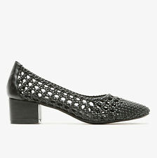 New Jeffrey Campbell Black Woven Bitsie Shoes 8.5 Free People Anthropologie