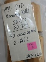 2 Rolls 1981 P & D Minted Kennedy 50c US Coins 40 Coins Total Uncirculated K95