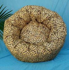 """Starbarks Pet Beds Small 12"""" Washable Orthopedic Golden Leopard Dog Cat Bed USA"""