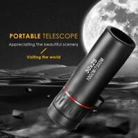 30x25 Optical Zoom Monocular Waterproof Night Vision Mini Portable HD Telescope